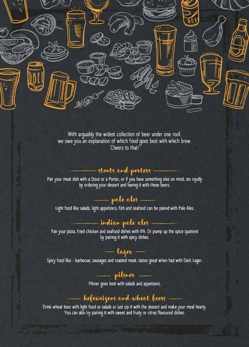 Menu 2 - The Beer Cafe, Connaught Place (CP), New Delhi