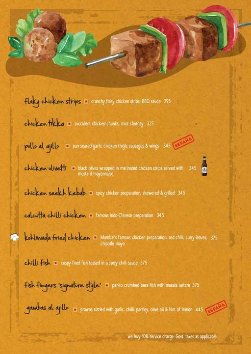 Menu 5 - The Beer Cafe, Connaught Place (CP), New Delhi