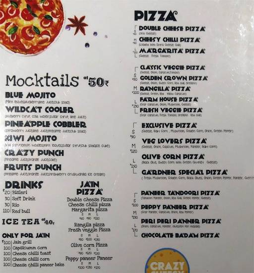 Menu 2 - Crazy Cheesy, Sadashiv Peth, Pune