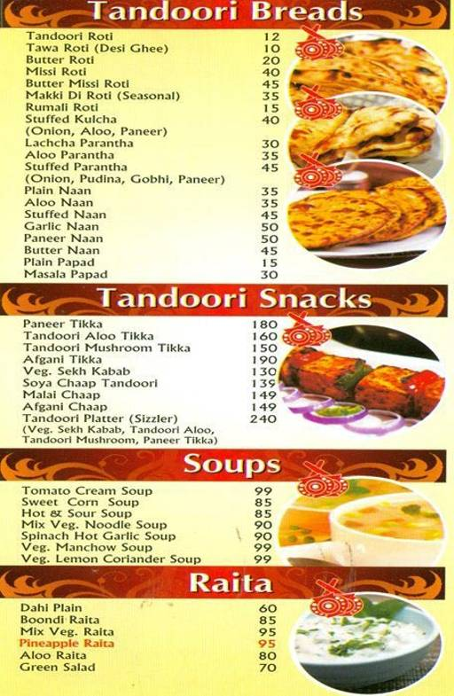 Food Menu 2 of Singla's, Dwarka, New Delhi