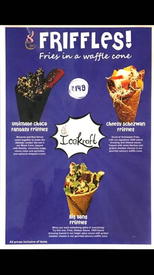 Food Menu 8 Of IceKraft Rajouri Garden New Delhi