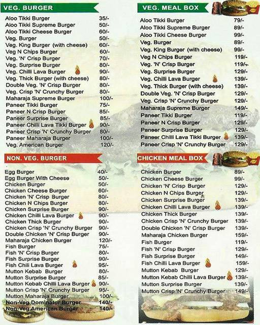 Food Menu 1 of Burger Point, Sector 15, Chandigarh
