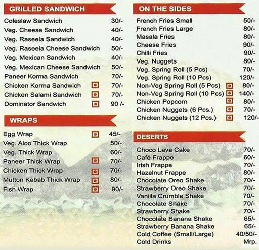 Food Menu 2 of Burger Point, Sector 15, Chandigarh