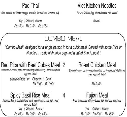Menu 13 - Vietnamese Kitchen, Indiranagar, Bangalore