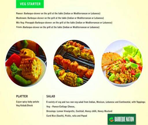 Menu 2 - Barbeque Nation, Connaught Place (CP), New Delhi