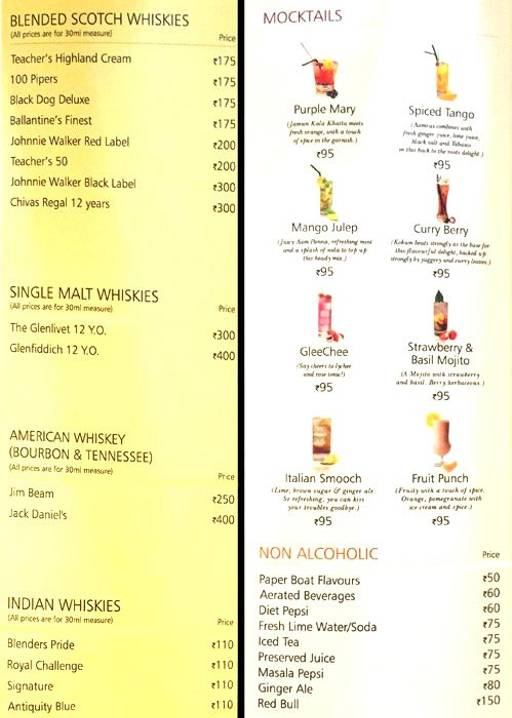 Menu 3 - Barbeque Nation, Connaught Place (CP), New Delhi