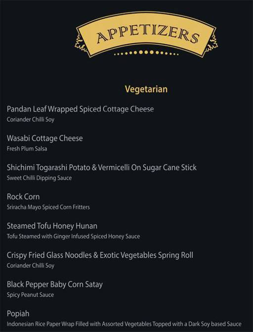 Menu of Singkong ,Lavelle Road, Bangalore - magicpin