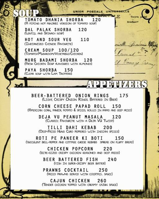 Food Menu 12 of Deja Vu Resto Bar, Bannerghatta Road, Bangalore