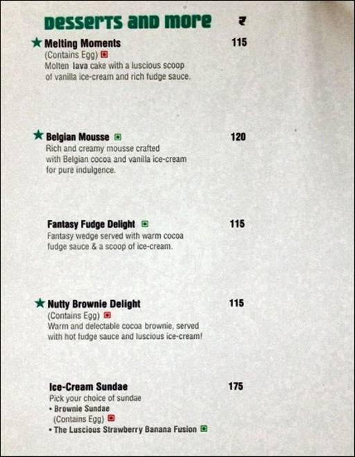 Food Menu 4 of Cafe Coffee Day, Sadashiv Nagar, Bangalore