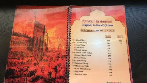 Menu 2 - Ravayat, Connaught Place (CP), New Delhi