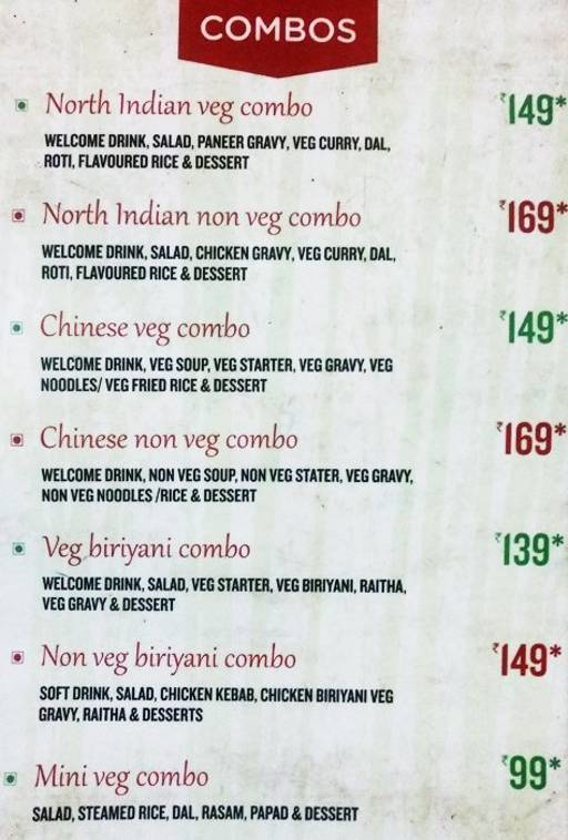 Menu 11 - Vinaya Royal Inn, Electronic City, Bangalore