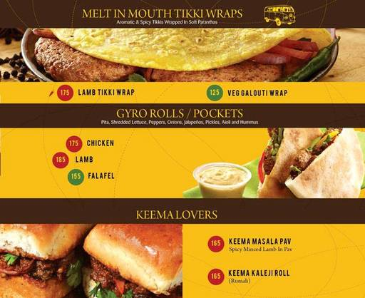 Menu 2 - The Rolling Joint, Connaught Place (CP), New Delhi