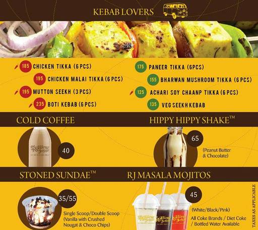 Menu 4 - The Rolling Joint, Connaught Place (CP), New Delhi