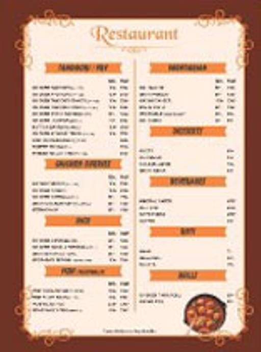 Menu 2 - Shahi Kitchen, Jasola, New Delhi