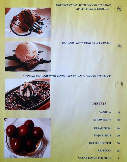 Food Menu 1 of Prithvi Hotel, Mani Nagar, Ahmedabad