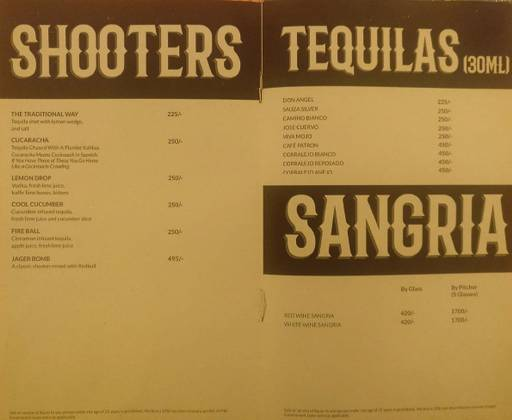 Menu 6 - Rodeo Cantina & Kitchen, Connaught Place (CP), New Delhi