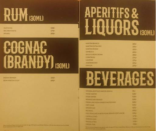 Menu 8 - Rodeo Cantina & Kitchen, Connaught Place (CP), New Delhi