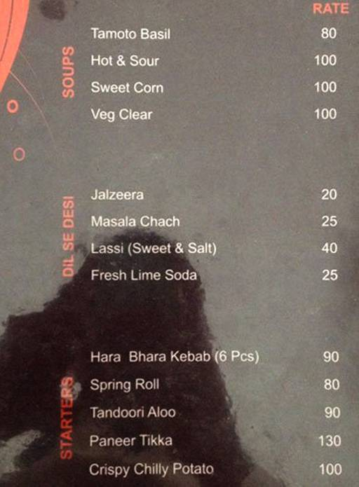 Menu 1 - Blends, Malviya Nagar, Jaipur