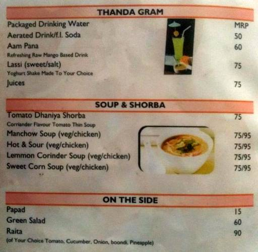 Menu 4 - India Eye, Sector 10 A, Gurgaon