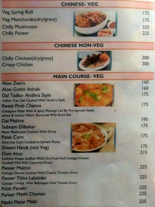 Menu 6 - India Eye, Sector 10 A, Gurgaon