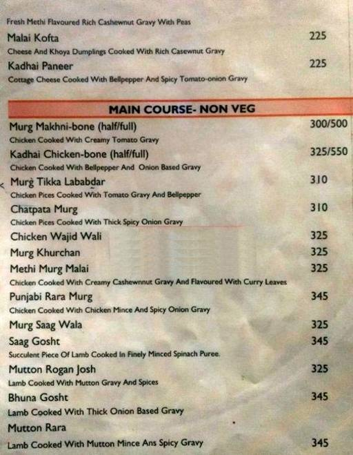 Menu 7 - India Eye, Sector 10 A, Gurgaon