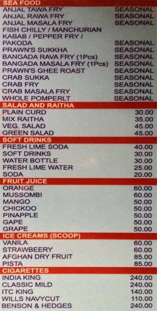 Food Menu 3 of Sun Pub, Rajarajeshwari Nagar, Bangalore