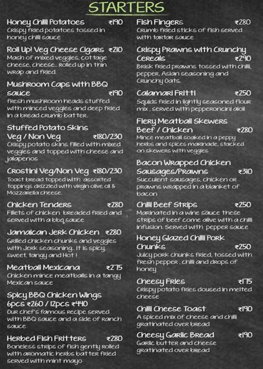 Food Menu 2 of Boondock Bistro, Whitefield, Bangalore