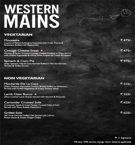 Menu 10 - Mystique Melange, Ashok Vihar Phase 2, New Delhi