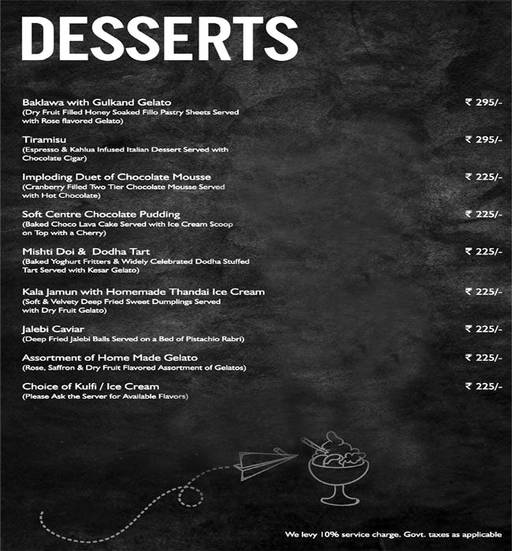 Menu 18 - Mystique Melange, Ashok Vihar Phase 2, New Delhi