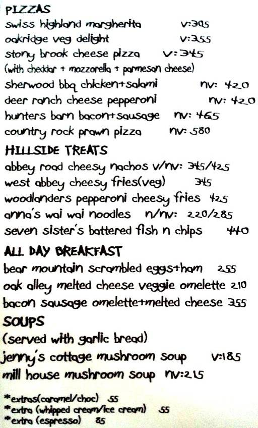 Food Menu 3 of Sakley's The Mountain Cafe, DLF Phase 4, Gurgaon