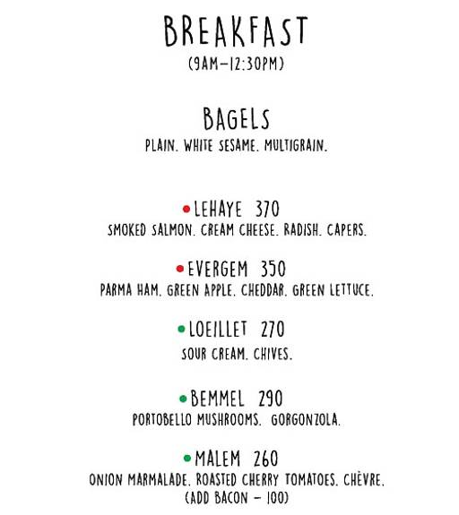 Menu 1 - Di Ghent Cafe, DLF Phase 4, Gurgaon
