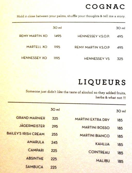 Menu 13 - The People & Co., DLF Cyber City, Gurgaon