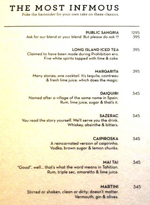 Menu 15 - The People & Co., DLF Cyber City, Gurgaon