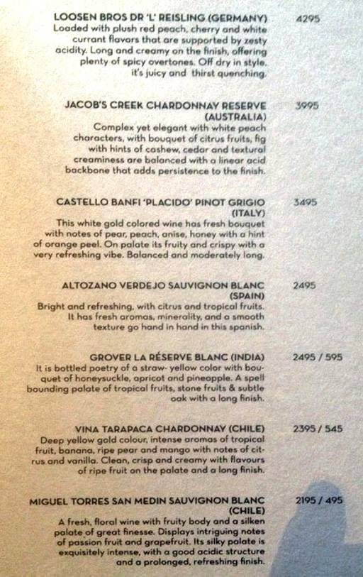 Menu 4 - The People & Co., DLF Cyber City, Gurgaon