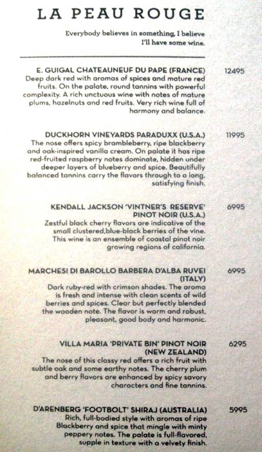 Menu 5 - The People & Co., DLF Cyber City, Gurgaon
