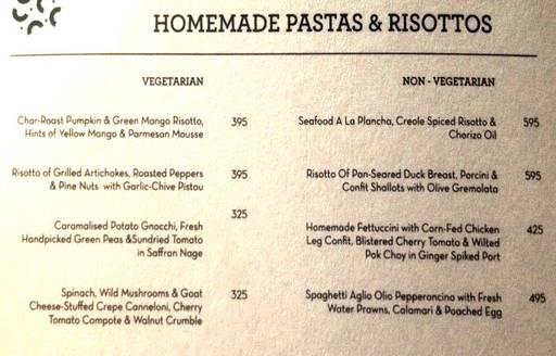 Menu 25 - The People & Co., DLF Cyber City, Gurgaon