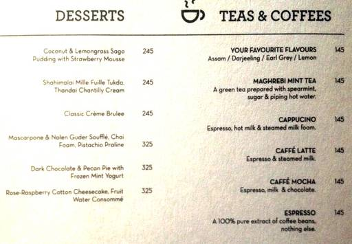 Menu 27 - The People & Co., DLF Cyber City, Gurgaon