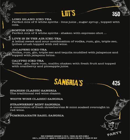 Menu 2 - Smoke On Water, Connaught Place (CP), New Delhi