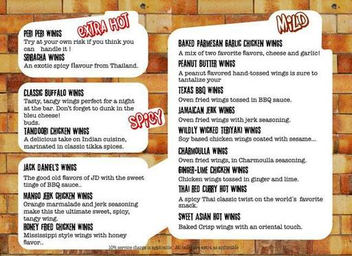 Menu 12 - Smoke On Water, Connaught Place (CP), New Delhi