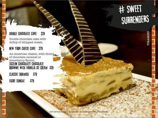 Menu 16 - Smoke On Water, Connaught Place (CP), New Delhi